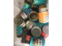 Tin Cans! Great for crafts or weddings