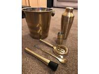 Gold bar cocktail set