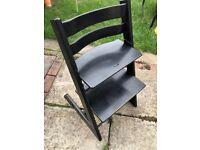 Black Stokke Tripp Trapp high chair inc. Baby Set