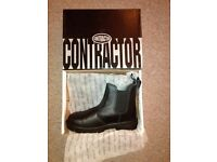 Steel Capped Boots size 8 - new in box