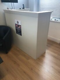 Solid wood hand made reception desk