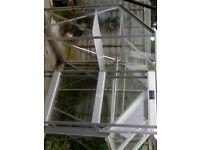 Greenhouse 6x4 Aluminium and Glass