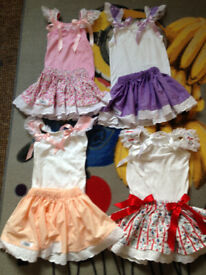 BELLAS BABY HANDMADE Summer Skirt/Vest Outfits 12-18 18-24months (will sell sep) will post out