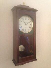 Wall Clock, Pendulum style, Made by Knight & Gibbins