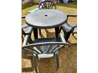 Green Plastic Garden Patio Set