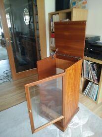 Hi Fi cabinet unit, beautiful solid dark wood