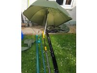 Shimano beastmaster pole rod with extras