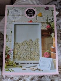 Ginger Ray Boho Wooden Guest Book Frame and Hearts