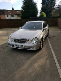 REDUCED Mercedes E class e320 cdi low milage lady owner full Benz dealer History Genuine sale