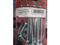 Woodscrews and screws with bolts