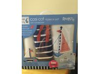 Lovely ships ahoy 4 piece bedding set and musical mobile