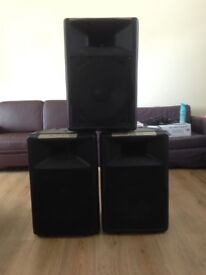 """REDUCED: Custom Speakers (3 X 700W SPEAKERS), Skytronic 15"""" Driver and Speakon Cables"""