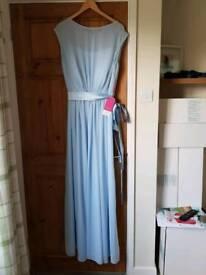 Sky blue bridesmaid dress