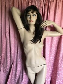 Full female mannequin with stand and wig