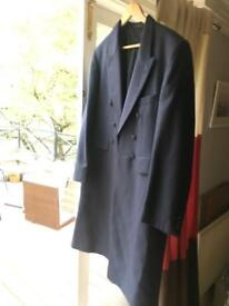 Vintage Navy Blue Dinner Tailcoat