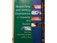 Research and writing dissertation in hospitality and tourism