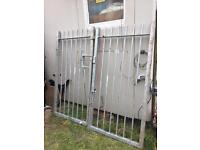 Galvanised steel gates