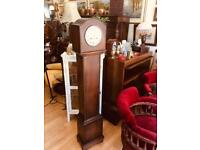Beautiful Edwardian oak cased grandmother clock in great condition, used for sale  Southport, Merseyside
