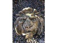 Stoneware lion waterspout