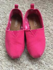 Pink slip on shoes size 12 worn twice