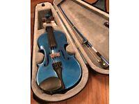 Violin for sale. Stentor. 1/2 size. Fantastic blue colour