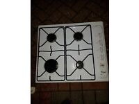Whirlppol Gas Hob Works Igniter needs attention or used lighter 50cm by 58 cm Buyer Collects