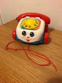 Fisher Price Pull Along Phone - great condition