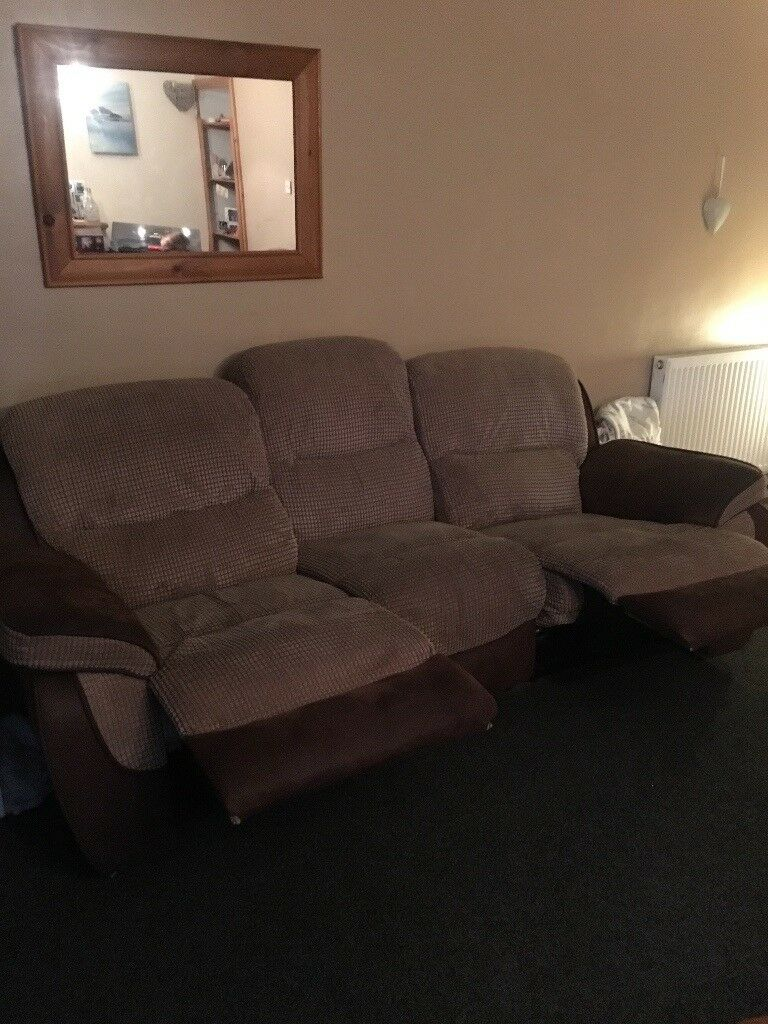 3 seater sofa 1 armchair recliner