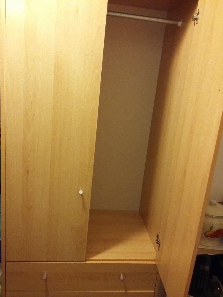 Argos Beech Malibu Wardrobe & bedside table