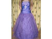 New Fully Lined Prom/Ball Gown/Evening/Bridesmaid Dress – Size 10 – with Hooped Underskirt