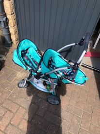 Kids toy double buggy
