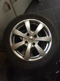 "4 Ace 15"" Renault alloys with 2 winter tyres"