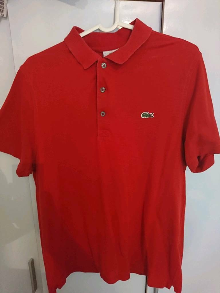 Lacoste Red Polo Shirt In Newcastle Tyne And Wear Gumtree
