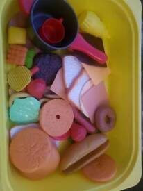 Plastic role play food for kids