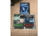 X3 horror DVDs £5