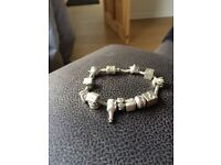 Truth charm bracelet with charms