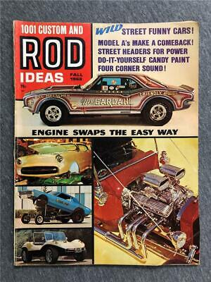 vintage 1001 CUSTOM AND ROD IDEAS ~ FALL 1968 ~ engine swaps the easy way - Custome Ideas