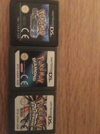 3 Pokemon ds games