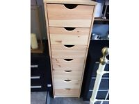 7 drawer solid pine bedroom unit