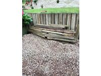 Reclaimed decking and decking frame wood