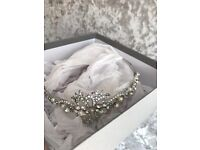 Miranda templeton bridal headband / side piece