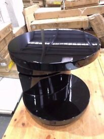 Greenapple Black Gloss Giro Lamp Table BRAND NEW Flat packed RRP £300