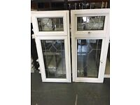 Upvc window with lead flashing detail in the glass 615 x 1355