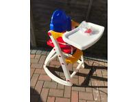 3 stage high chair in good condition with instructions