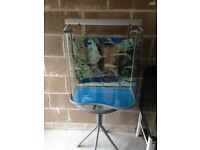 85l fish tank very nice and v g c with only light u cal look pic