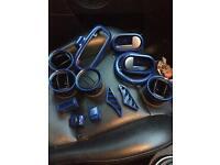 Mark 6 Ford Fiesta interior plastic trims sprayed blue.