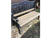 One lovely garden bench ready for summer £65