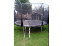 14ft trampoline with new mat