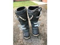 Kids motocross boots.
