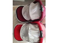 Uppababy carry cots. Suitable for twins but also happy to sell separately. very good condition